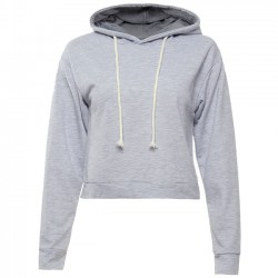 Herbstfrauen Sexy Crop Top ganze Farbe Hoodie Pullover Pullover