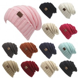 Frauen stricken Beanie Hüte Toasty Beanie warme Wolle stricken CC Hut
