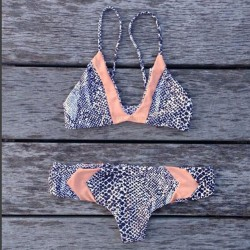 Sexy Bikinis Split Badeanzug Leopard gedruckt Rosa Badeanzug