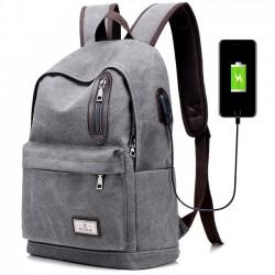 Kühle Reine waschende Farben-große Schultasche USB-Schnittstellen-Reißverschluss-Dekor Segeltuch Rucksäcke
