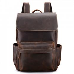 Retro handgemachte Tasche Original Dickes Leder britischen Stil Männer Schulrucksack