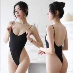 Sexy rückenfreie Seidenstrumpfhose Dünne transparente verbundene Damenwäsche
