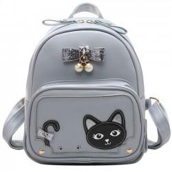 Süße Stereo Bowknot Perle Anhänger Mädchen Kätzchen PU frische süße Katze Schule Rucksack