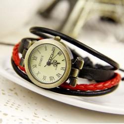 Persönlichkeit Punk Multi-Leather Strap Uhr