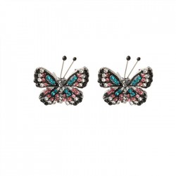 Fresh Butterfly Lady Earrings Cute Diamond Butterfly Animal Earring Studs