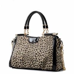 Arbeiten Sie einzigartigen Designer Leopard Handtasche