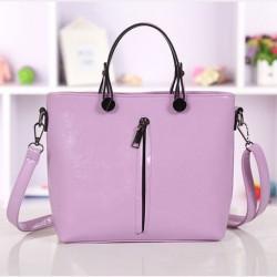 Elegante lila Mode Reißverschluss Kleine Frische Handtasche Schultertasche