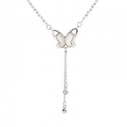 Niedlicher Schmetterling Quaste Schmuck Geschenk Für Sie Tier Halskette Hohler Schmetterling Silberne Damen Halskette
