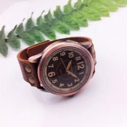 Handgemachtes Multiskalen Retro Leder Uhr