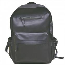 Retro Doppelreißverschlüsse Schüler Studententasche Großer weicher PU College Rucksack