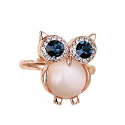 Cute Owl Opal Eröffnung Tierring