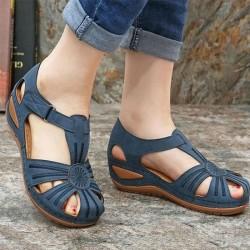 Mode Sommer Schuhe Slope Heel rutschfeste untere Damen Sandalen