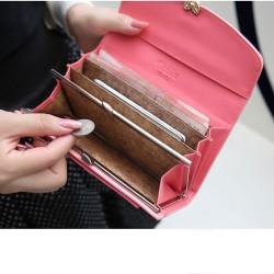 Mode Quermuster Liebe Diamant-Schlag-Brieftasche