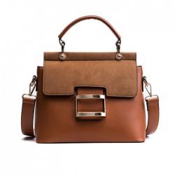 Mode Single Buckle Portable Messenger Kleine quadratische Tasche gefrostet Schultertasche