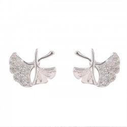 Nette Lotusblatt-frische einfache silberne Ohrring-Nieten