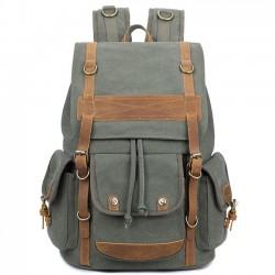 Retro-Männer drei Taschen Outdoor-Rucksack große Freizeit Reisen Canvas Rucksack