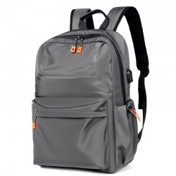 Einfacher Rucksack mit USB-Ladeanschluss Wasserdicht Großer Sport-Reise-Rucksack Business-Computer-Schultasche Rucksack