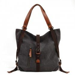 Einzigartiges Design Multifunktions-Leinwand Eimer Rucksack Handtasche Schultertasche