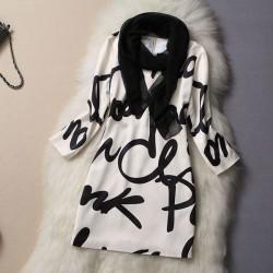 süße Mode groß Buchstaben Druck-Kleid