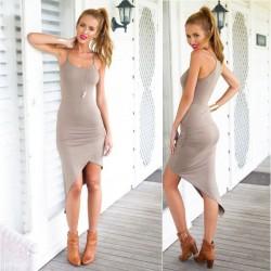 Reizvoller fester dünner ärmelloses Kleid