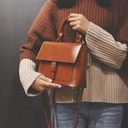 Freizeit einzelne Schnalle College Girl Handtasche Schultertasche