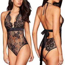 Sexy Flower Lace Conjoined Underwear Intimate Sling Women Lingerie
