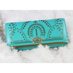 Mode Geometrische aushöhlen Crown Unterarmtasche und Brieftasche