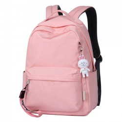 Simple Pure Color Large Preppy Waterproof High School Bag Student Backpack