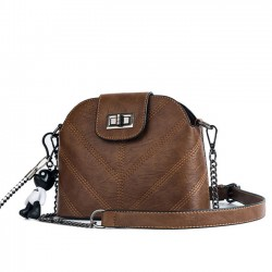 Retro Single Buckle Lady Small Chain Shoulder INS Style Summer Messenger Bag