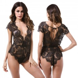 Sexy Leaves Perspective verband Unterwäsche Black Lace Intimate Lingerie