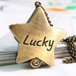 Populäre Weihnachtsgeschenk Mond Sterne Kreuz Taschenuhr / Anhänger / Halskette