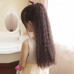 Niedliches Kordelzug-Art-lockiges Pferdeschwanz-Haar