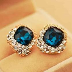 Luxus Strass Kristall Hochzeit Ohrringe