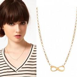 Fashion Unendlichkeit Bogen Pullover Halskette
