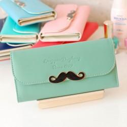Frische Einfache Schnurrbart Kupplungen und Geldbörse