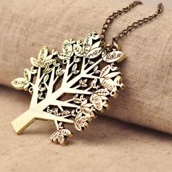 Weihnachten Leben Baum Vogel Pullover Halskette