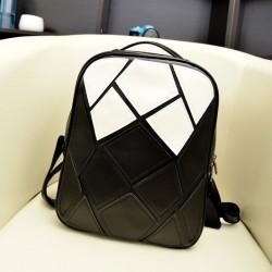 Schwarz Weiß Unregelmäßige Kontrast Farbe Rucksack