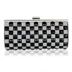 Geometrie Gitter Strass Mode-Handtasche Brieftasche