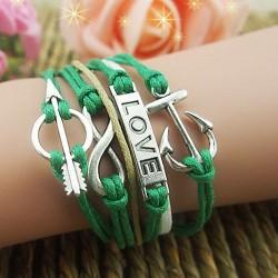 Frischer Anker Pfeil Liebe Infinity Armband