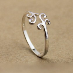 Süße Einfach Wolke Silber Ring