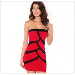 Reizvolle Spleiß-Kontrast-Farben-Schlauch-Kleid