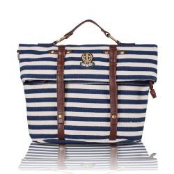 Marine Streifen-Multifunktions Schule Spielraum-Rucksack Handtasche Schultertasche Umhängetasche