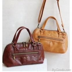 Süße Retro Lederhandtasche und Schultertasche