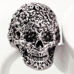 Punk Klassiker Carving Schädel Ring