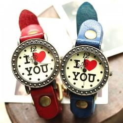 Romantiker Retro Ich liebe Dich Uhren