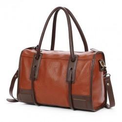 Retro Einfach Braun Pendler Handtasche
