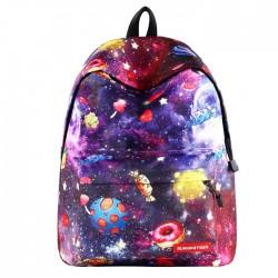 Cute Starry Student Bag Candy Cartoon Galaxy School Backpack
