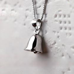 Original Sterling Silber Jingle Bells Anhänger Claviclehalskette