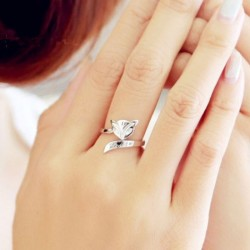 925 Silver Fox Ring Retro Öffnungs Ring