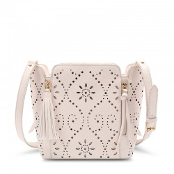 Süße Solide Hohl Platz Quaste Reißverschluss Handtasche